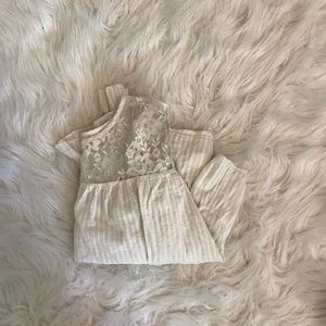 Free people lace peasant top